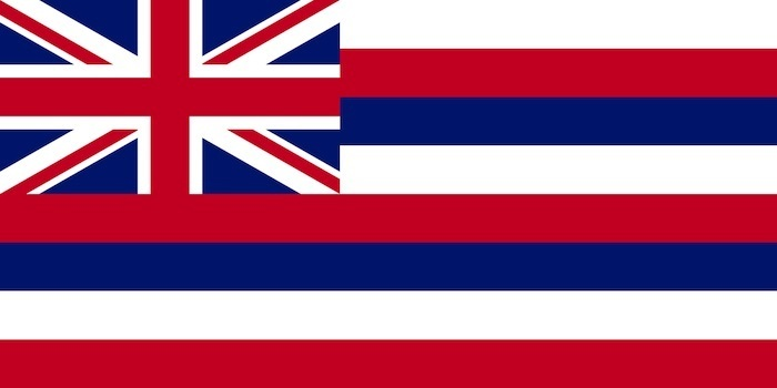 Hog hunting Hawaii state flag